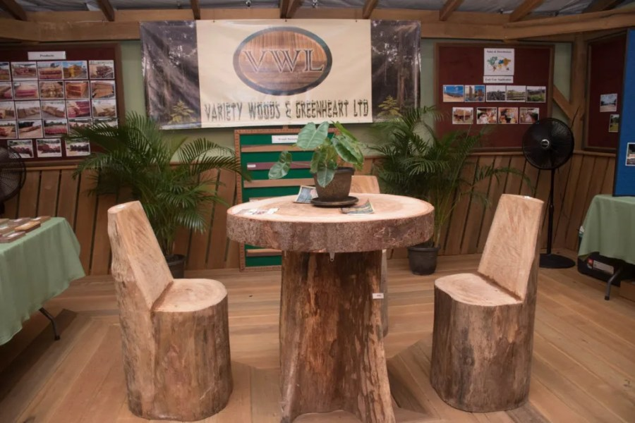 A display by Variety Woods at the Timber Expo
