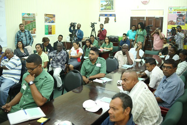 Participants at the project launch at the GFC today.
