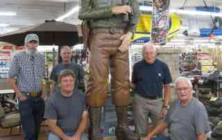 Forest Ranger Carvers: Front (L to R) Chuck Kaparich and Phil Bain Back: Alex McDonald, Steve Weiler and Jerry Covault.