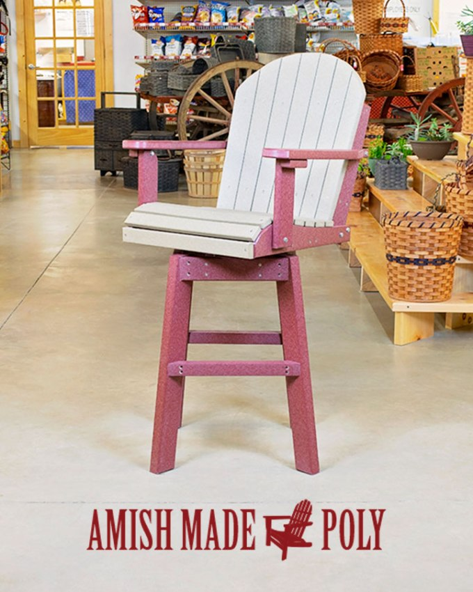 Amish Made Poly Counter Chair Swival Angle