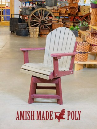Amish Made Poly Dining Chair Swivel
