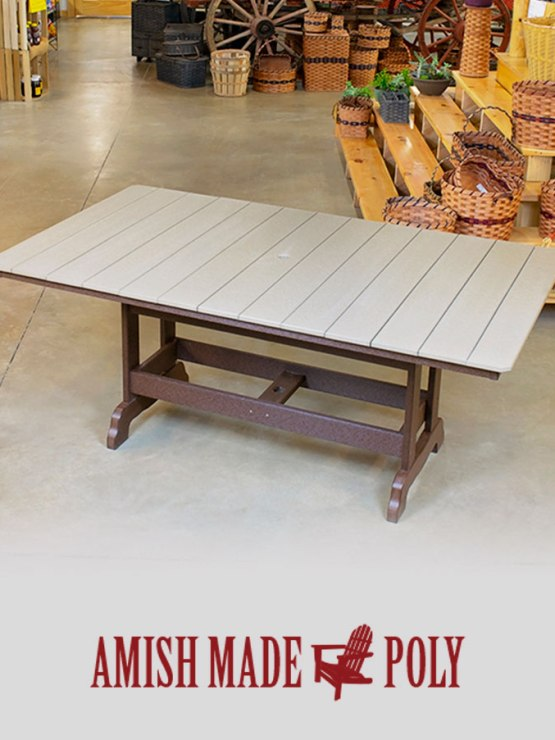 Amish Made Poly 6ft Dining Table