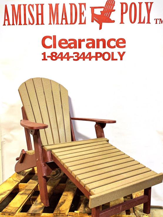 Amish Made Folding Adirondack Chair with Pull Out Ottoman
