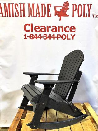 Amish Made Adirondack Rocking Chair Black