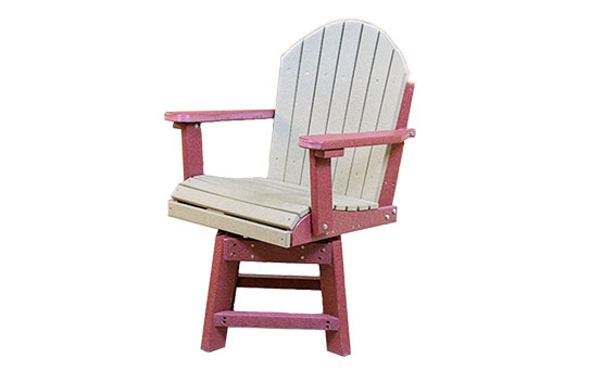 Amish Made Poly - Dining Height Swivel Chair