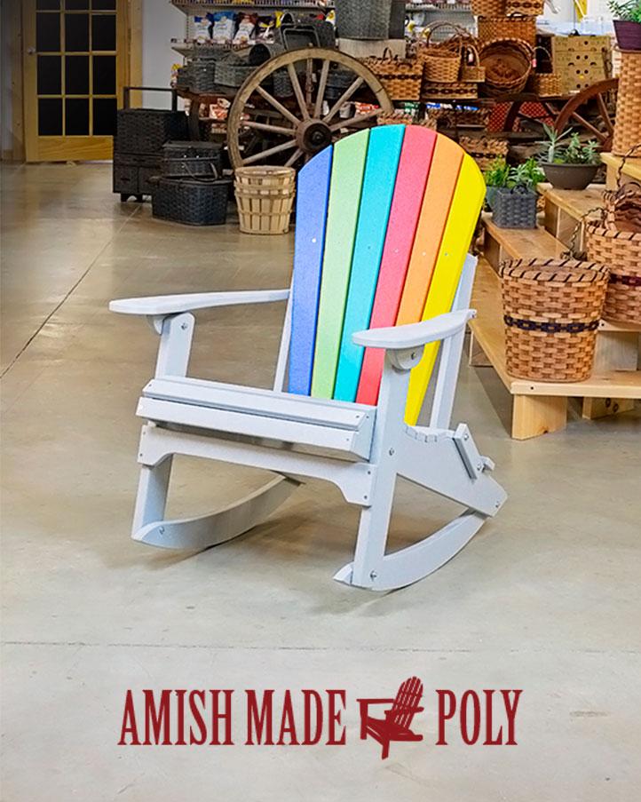 Adirondack Rocking Chair Amish Made Poly