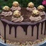 Ferrero Rocher and Nutella Cheesecake Cake