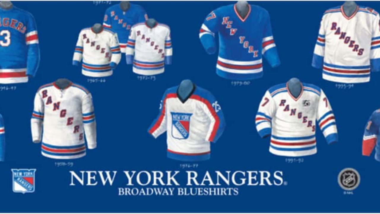 low priced 34acc 9d0ae The history and evolution of the Rangers jersey - FOREVER ...