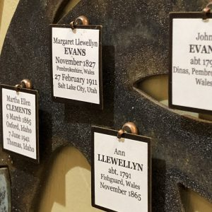 forever family tree square tags