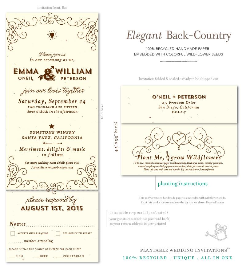all in one perforated wedding invitations. alluring diy tri fold, Wedding invitations