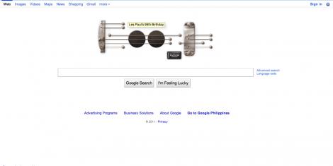 Google Doodle Les Paul