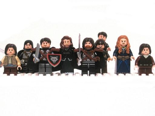 Game of Thrones LEGO minifigs Stark Family