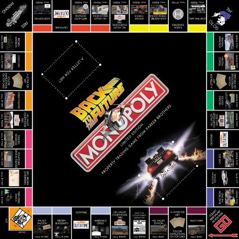 monopoly homemade board games back to the future