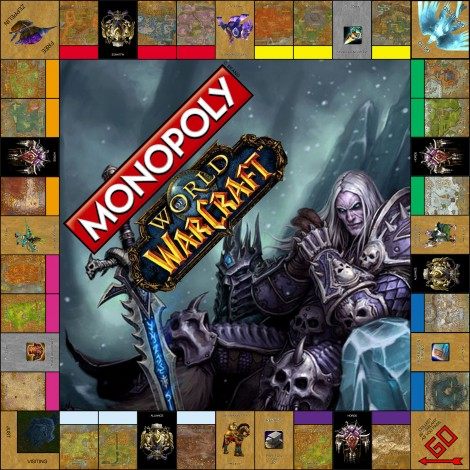 monopoly homemade board games warcraft