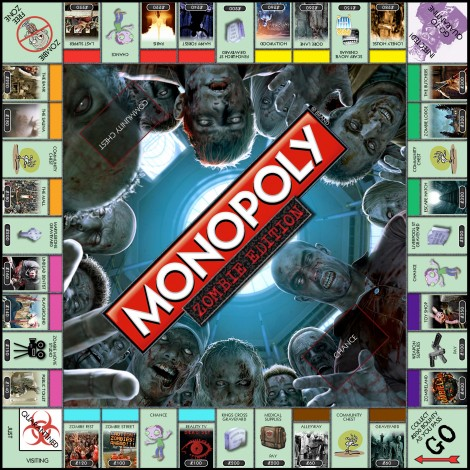monopoly homemade board games zombies