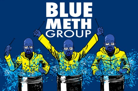 breaking bad mashup blue man group