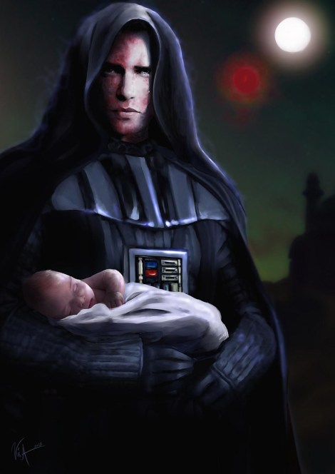 anakin skywalker darth vader jedi master baby luke tattooine star wars what if
