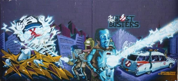 geek graffiti Ghostbusters