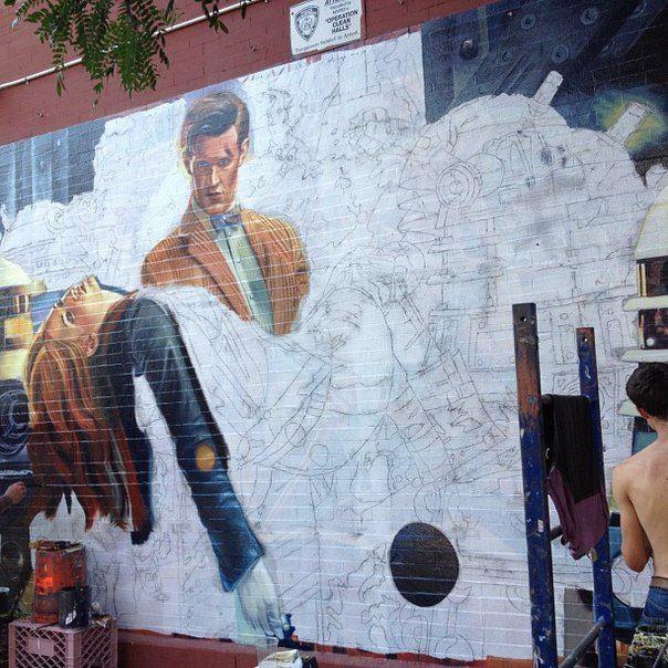 Geek graffiti Doctor Who