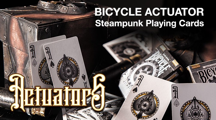 Bicycle Actuator Steampunk Playing Cards