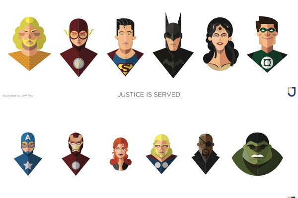 Flat-Design-Superheroes