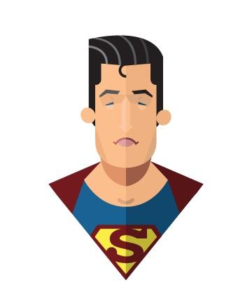 Flat Design - Superman