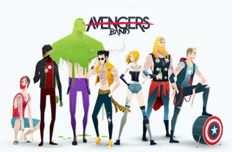Superhero Rock Stars - Avengers