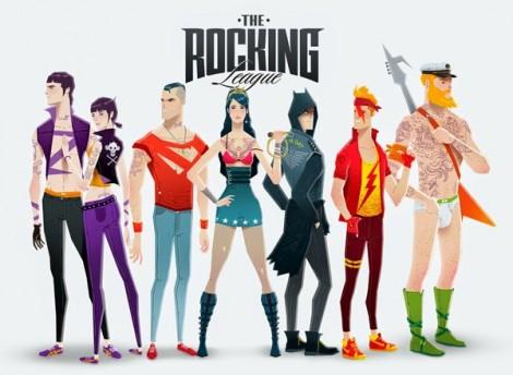 Superhero Rock Stars - Justice League