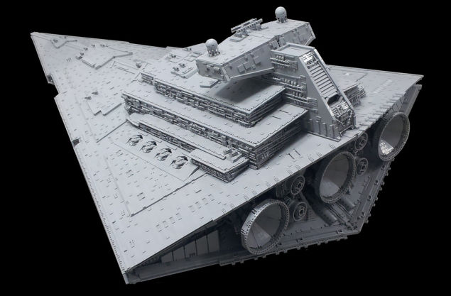 LEGO Imperial Star Destroyer from the back