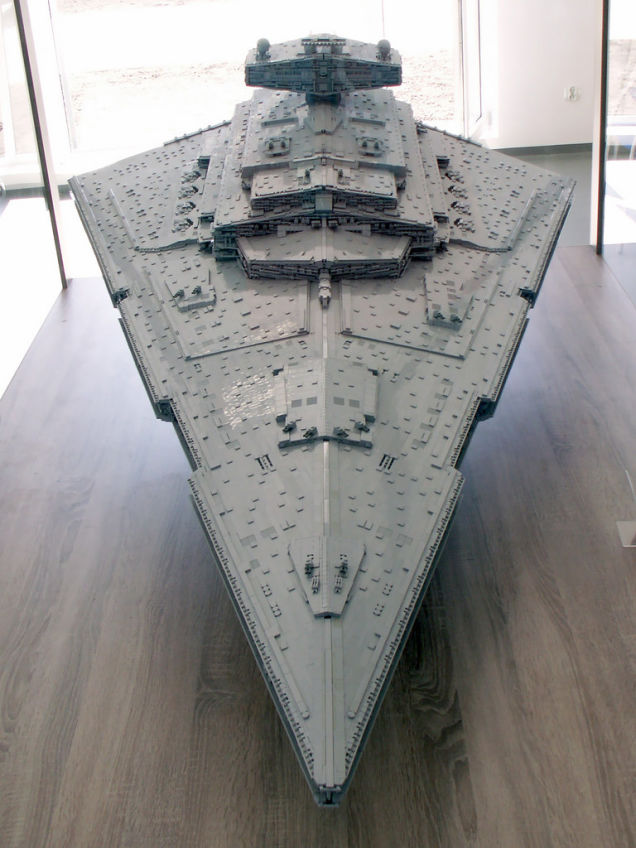 LEGO Imperial Star Destroyer from the top
