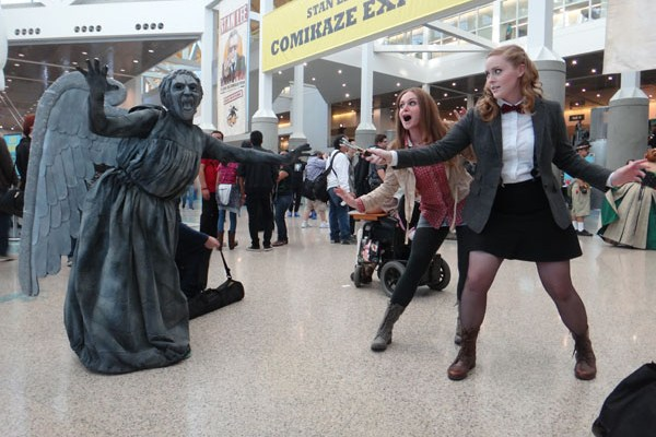 Stan Lee's Comikaze Expo 2014 - a Weeping Angel takes on the Doctor and Amy