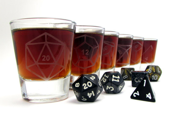 geeky drinking glasses