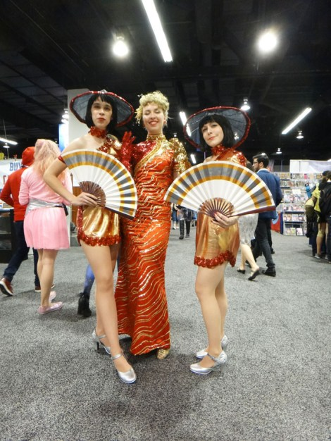 WonderCon Anaheim 2015 Willie Scott and dancers from Indiana Jones and the Temple of Doom