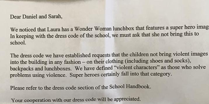 wonder woman note