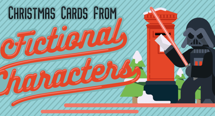 fictional characters christmas cards