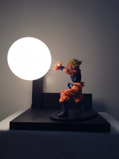 Dragon Ball Z Action Figure Lamps