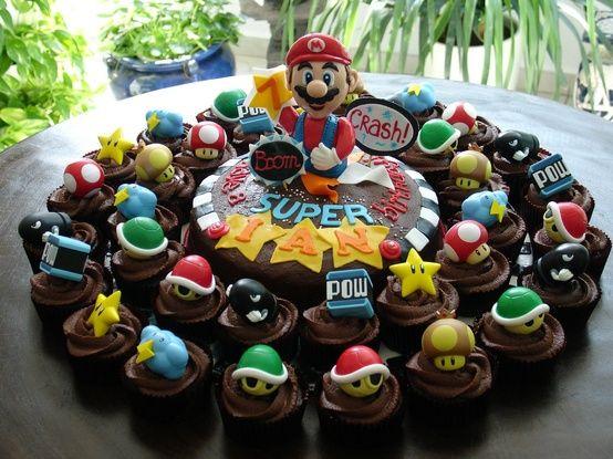 coolest super mario cupcakes