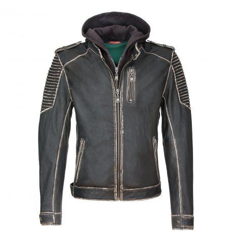 joker leather jacket front
