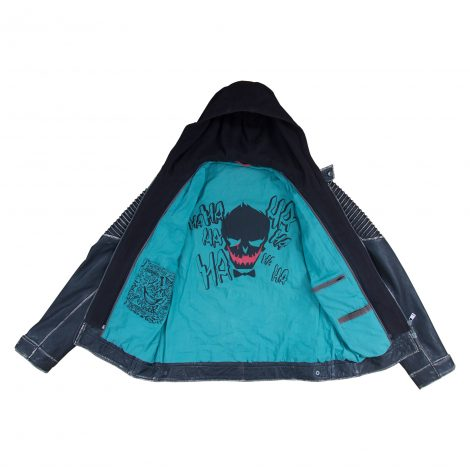 joker leather jacket hood