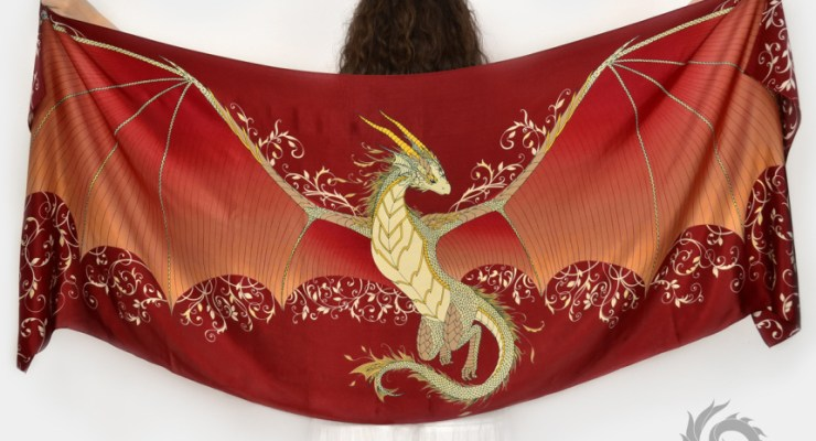 silk dragon scarf