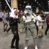 Star Wars Celebration Orlando 2017 - Mara Jade and glitter trooper