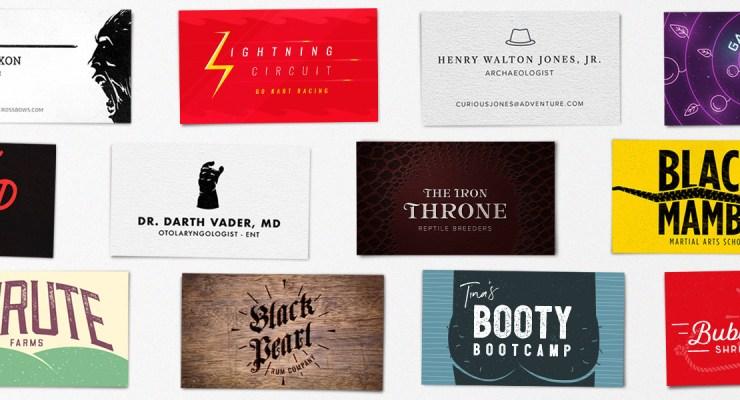 pop culture business cards