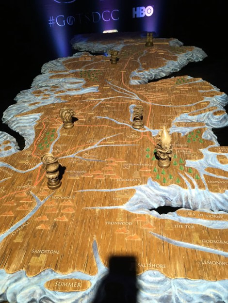 SDCC 2017 - Game of Thrones Westeros map 1