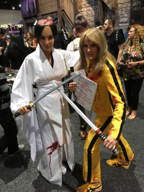 SDCC 2017 - cosplay O-Ren Ishi and the Bride