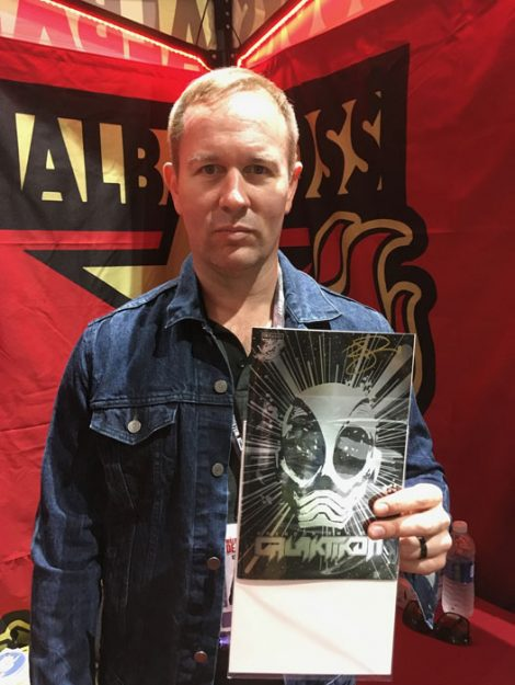 SDCC 2017 - Brendon Small's Galaktikon comic metallic variant
