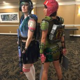 Tina and Louise in battle armor at Long Beach Comic-Con 2018