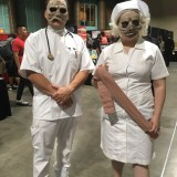 """Twilight Zone """"Eye of the Beholder"""" doctor and nurse at Long Beach Comic-Con 2018"""