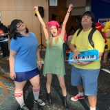Long Beach Comic Expo 2019 - Tina, Louise, and Gene Belcher from Bob's Burgers