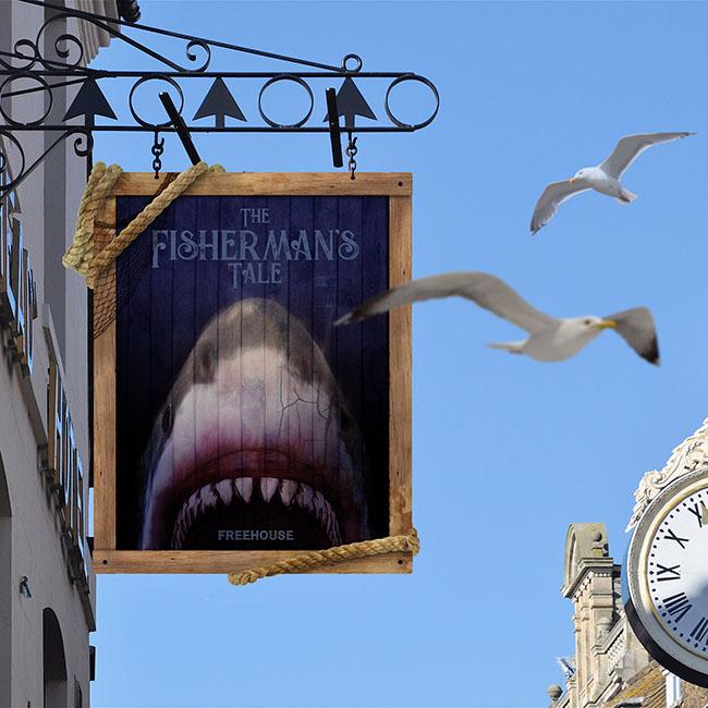 British pub signs Jaws