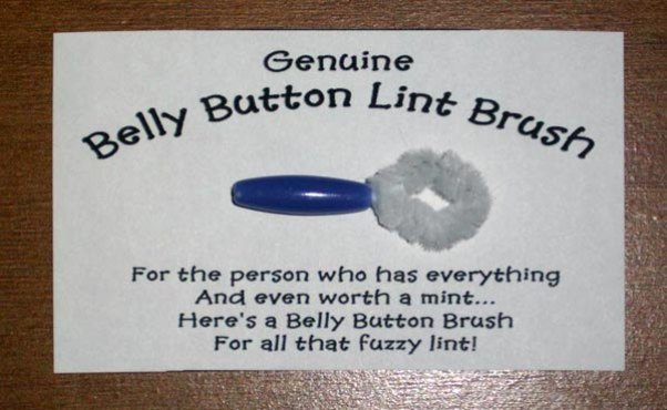 navel lint brush